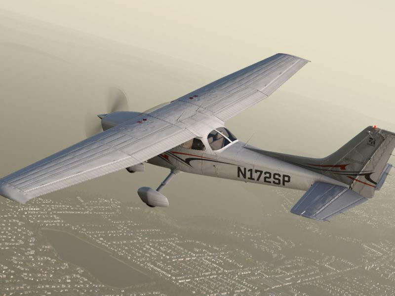 Cessna 172SP FLying from above