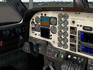 X-Plane 11 King Air C90B Cockpit